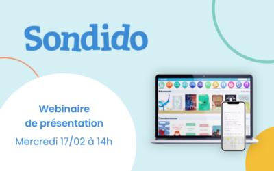 17 février – Webinaire de présentation de Sondido – la bibliothèque numérique pour les écoles élémentaires